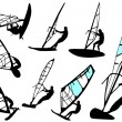 Vetorial Stock : Windsurfing - vector set