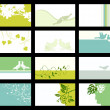 Business card - vector collection - Imagens vectoriais em stock