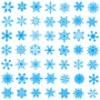 Vetorial Stock : Cold crystal gradient snowflakes - vecto