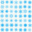 Stock Vector: Cold crystal gradient snowflakes - vecto