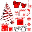 Royalty-Free Stock Imagen vectorial: Set of Christmas symbols and elemnts