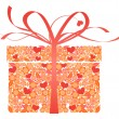Stylized gift - vector -  