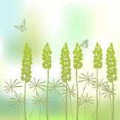 Achtergrond van de bloem van de lupine — Stockvector