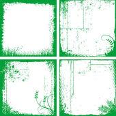 您设计的的四个 grunge 帧。 — 图库矢量图片
