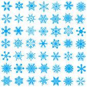 冷水晶渐变雪花-vecto — 图库矢量图片