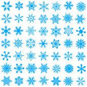 Cold crystal gradient snowflakes - vecto — Stock Vector