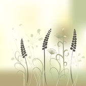 Floral achtergrond, weide — Stockvector