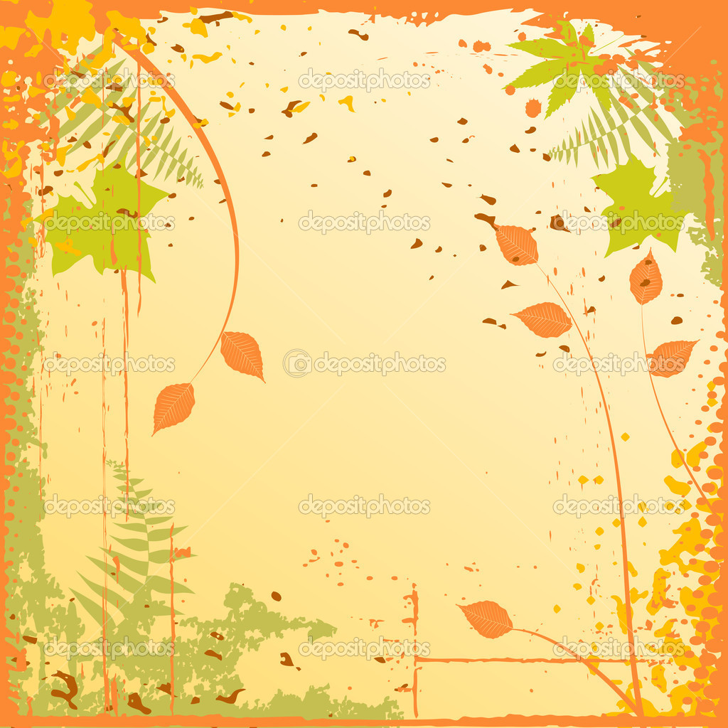 Autumn background with a space for a text  Stock Vector #2055000