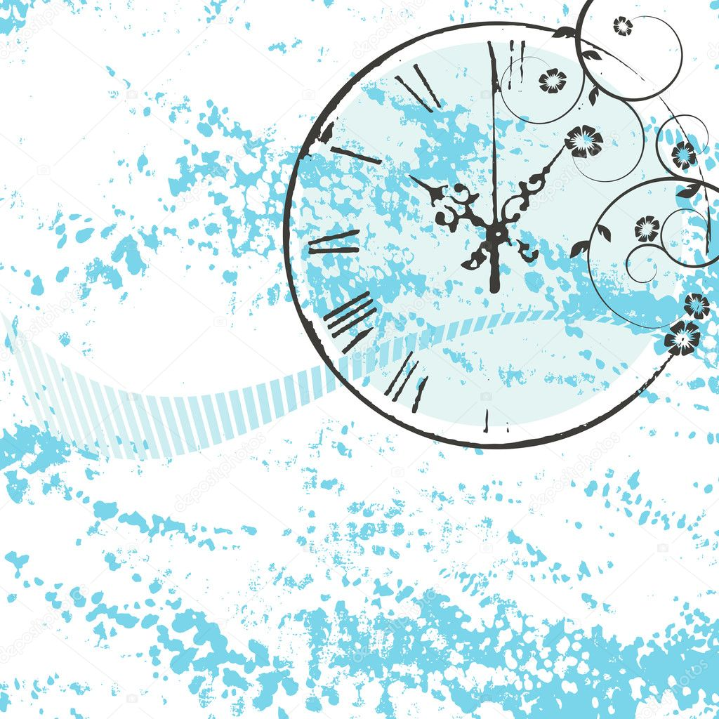 Vector background with a clock — Stockvectorbeeld #2055216