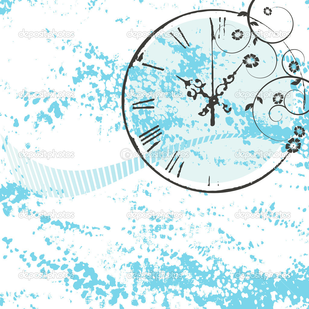 Vector background with a clock — Imagen vectorial #2055216
