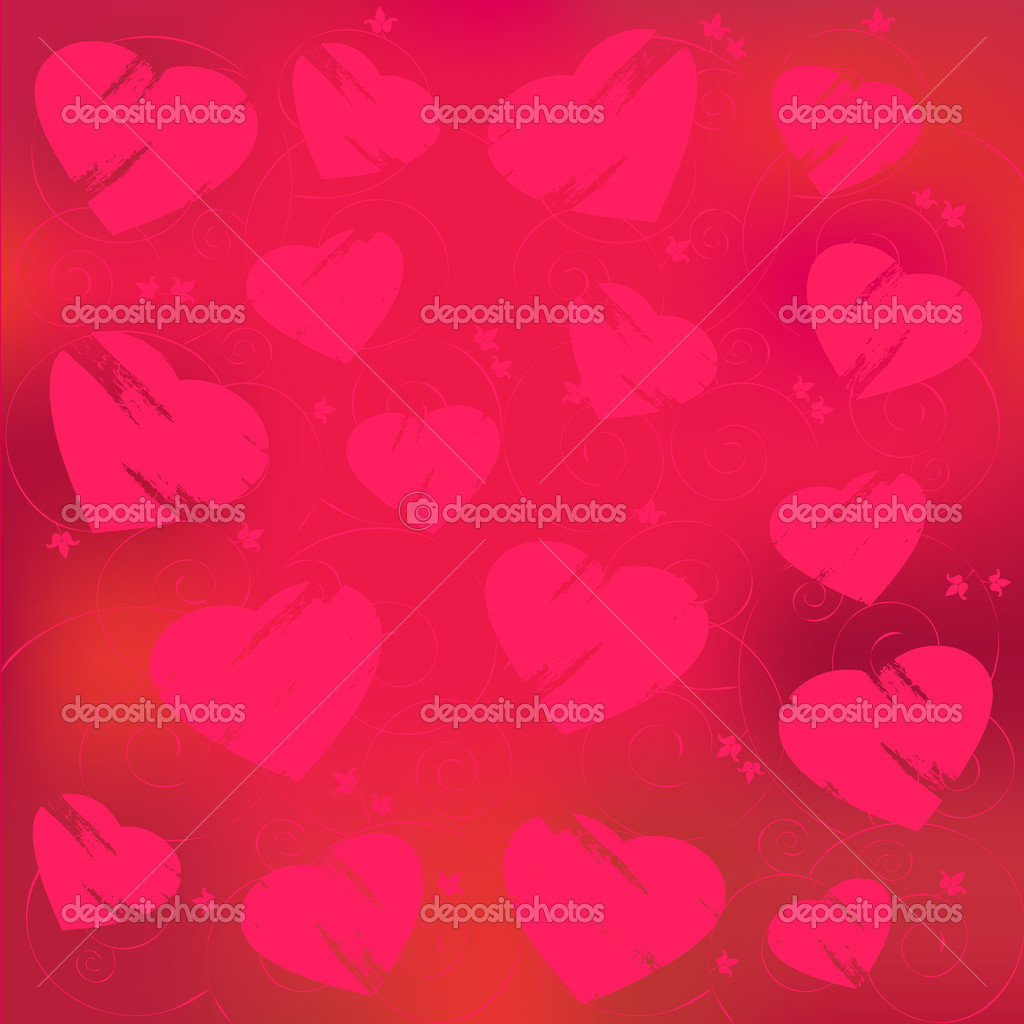 Valentine's day abstract, red heart on a red background  Vettoriali Stock  #2055680