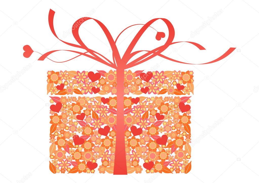 Stylized gift - vector — Stock Vector #2056343