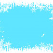 Winter background - vector illustration — Stock Vector