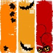 Halloween vertical banners, set — Stock Vector