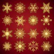 Gradient snowflakes - vector set — Stock Vector