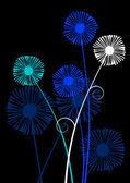 Abstract flowers, meadow, garden — Stock Vector