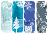 Winter banners, snowflakes — Stock Vector
