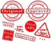 Sale stamp vector set — Stock Vector
