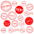 Sale stamp vector set - Stock Vector