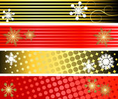Set of three winter banners — Stock Vector