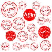 出售邮票矢量套 — 图库矢量图片
