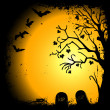 Halloween background with place for text — Imagen vectorial