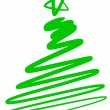 Vetorial Stock : Abstract christmas tree - simple drawing