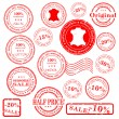 Sale stamp vector set — Stock Vector #2467682