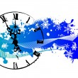 Stock Vector: Vector background with a clock