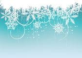 Fond de l'hiver, flocons de neige — Vecteur