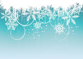 Winter background, snowflakes — 图库矢量图片