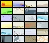 商务卡-矢量集合 — 图库矢量图片