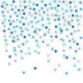 Snowflakes, vector illustration — Stock Vector