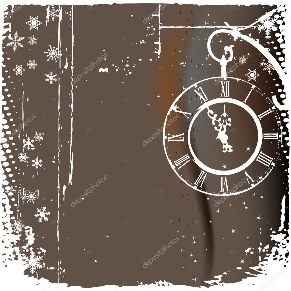 Vector background with a clock — Stock Vector #2466096