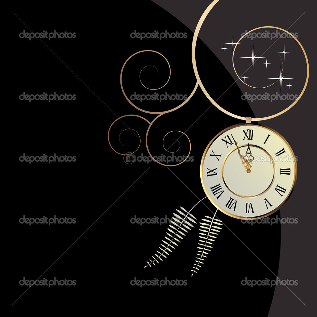Vector background with a clock  Stock Vector #2467582