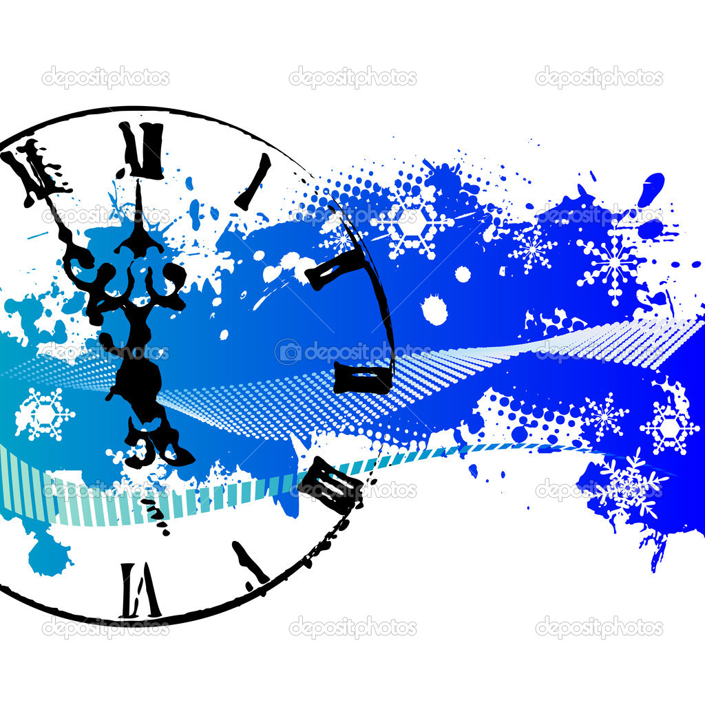Vector background with a clock  Stock Vector #2467834