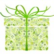Stylized gift - vector - Stockvektor