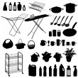 Stock Vector: Kitchen objects - set