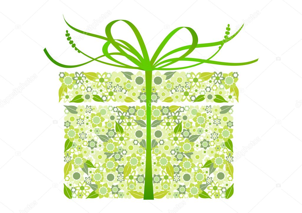 Stylized gift - vector  Stock Vector #2473512