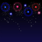 Colorful fireworks with space for text — 图库矢量图片