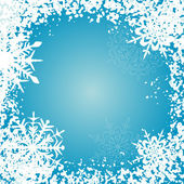 Winter background, snowflakes — Stock Vector
