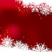 Vintern bakgrund, snöflingor — Stockvektor