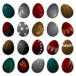 Easter eggs, vector set - Stock Vector
