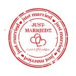 球衣邮票-刚结婚 — 图库矢量图片
