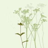 Silhouette de la véritable herbe — Vecteur