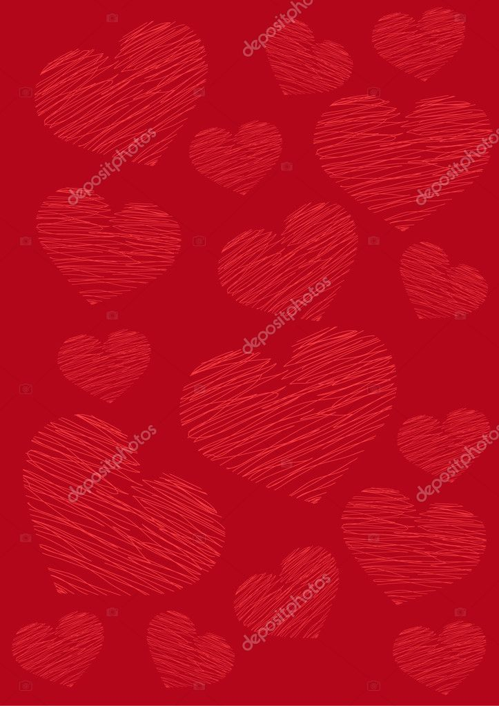 Valentine's day abstract, red heart on a red background — Stock Vector #2566724