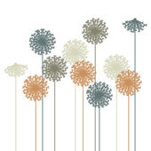 Abstract dandelion silhouette - vector — Stock Vector
