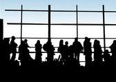 Passageiros do aeroporto — Vetor de Stock