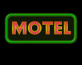 Motel Neon Sign — Stock Photo