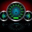 Speedometer Vector — Stock Vector